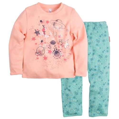 Пижама Bossa Nova размер 34, персиковый/бирюзовый (набивка звезды)Домашняя одежда<br>