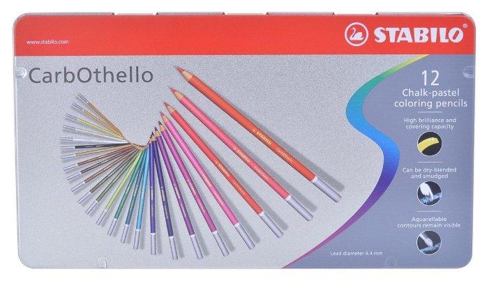 STABILO Пастельные карандаши Carbothello 12 цветов (1412-6)