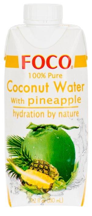 Вода кокосовая FOCO с соком ананаса, без сахара