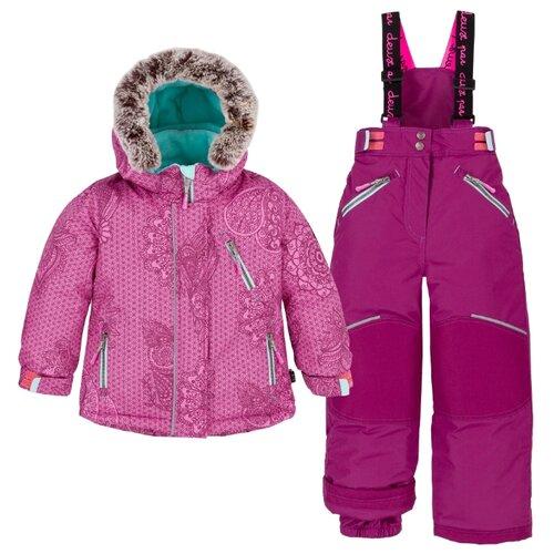 Комплект с полукомбинезоном Deux Par Deux размер 2, 533 розовый/голубойКомплекты верхней одежды<br>