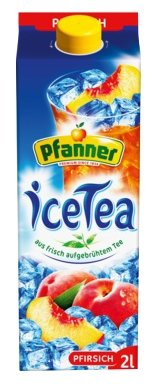 Чай Pfanner Персик с пониженным содержанием сахара, тетра-пак
