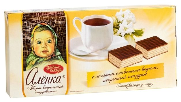 Торт вафельный Красный Октябрь Аленка 250 г