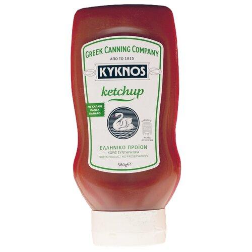 Фото - Кетчуп KYKNOS Томатный, пластиковая бутылка 580 г кетчуп кухмастер томатный 260 г