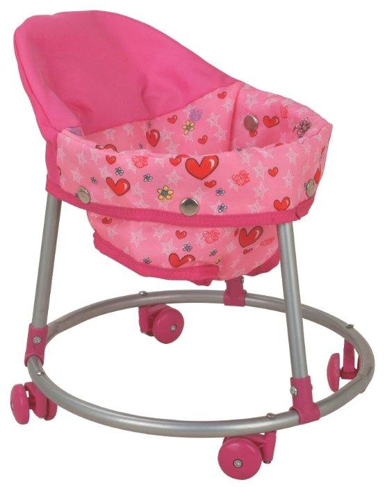 Ходунки Buggy Boom Loona 8779-1 светло-розовый с сердечками