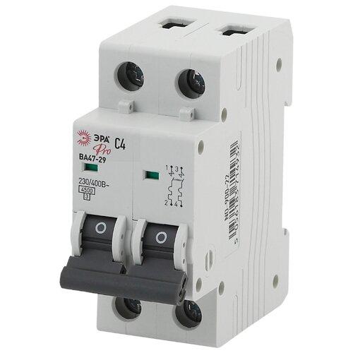 Автоматический выключатель ЭРА ВА 47-29 2P (C) 4,5kA 63 А выключатель автоматический однополюсный 6а c 4 5ka ва 47 63 ekf proxima