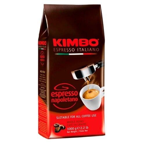 Кофе в зернах Kimbo Espresso Napoletano, арабика/робуста, 1000 г кофе в зернах kimbo espresso bar prestige 1000