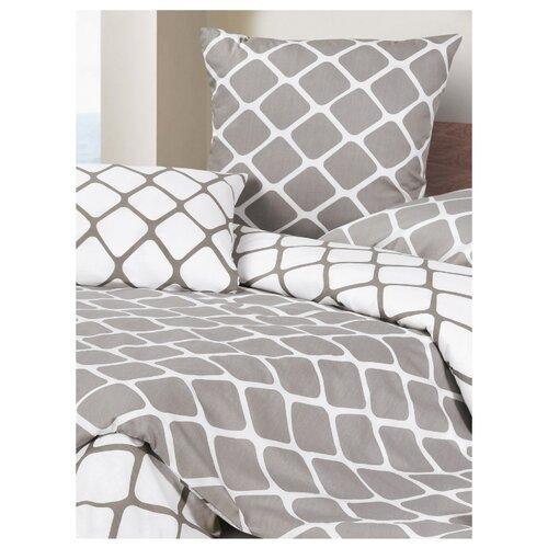 Постельное белье 2-спальное ECOTEX КГМ/Хэмптон сатин серыйКомплекты<br>