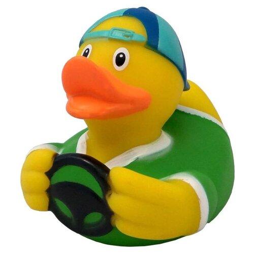Купить Игрушка для ванной FUNNY DUCKS Водитель уточка (1826) желтый/зеленый, Игрушки для ванной