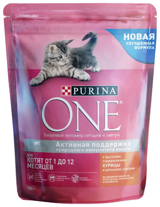 Корм для котят Purina ONE с курицей и с цельными злаками