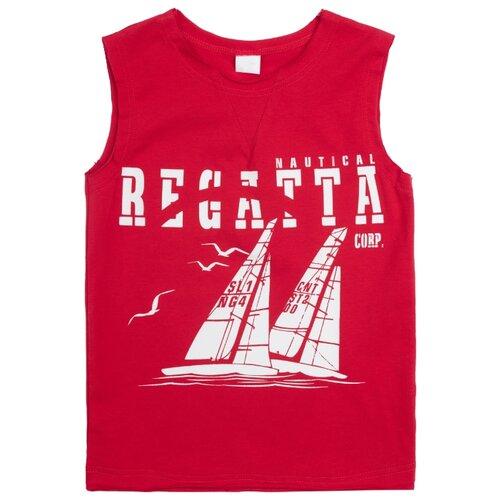 Майка playToday размер 116, красныйБелье и пляжная мода<br>