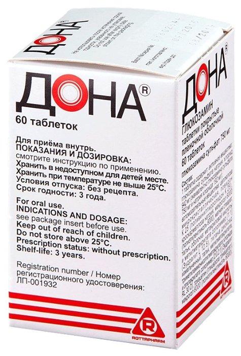 Дона таб.п/о плен. 750 мг №60