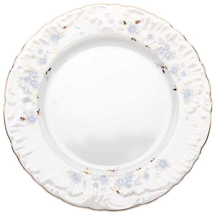 Cmielow Тарелка десертная Rococo Голубой цветок 17 см
