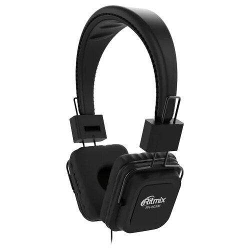 Наушники Ritmix RH-605M черныйНаушники и Bluetooth-гарнитуры<br>