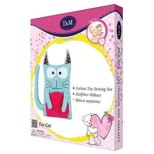 Купить D&M Шьем игрушку Котик (67608) голубой/розовый, Изготовление кукол и игрушек