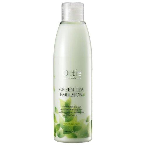 Ottie Green Tea Emulsion Увлажняющая эмульсия для лица с экстрактом зеленого чая, 200 мл