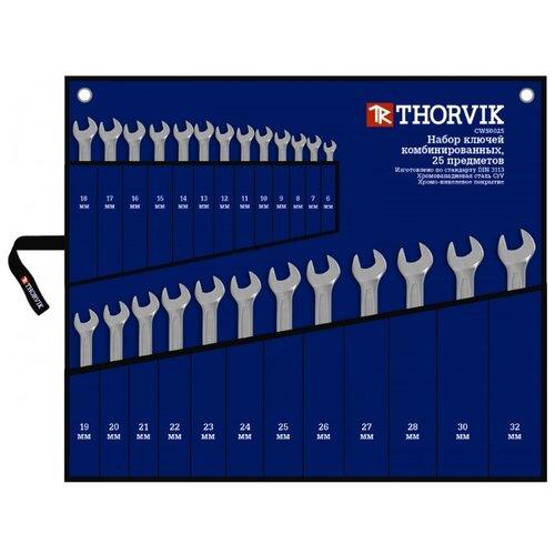 Фото - Набор гаечных ключей Thorvik CWS0025, 25 предм. набор гаечных ключей thorvik 6 предм orws006