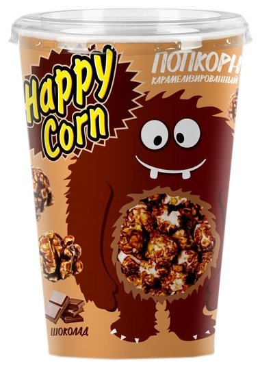 Попкорн HAPPY CORN Шоколад готовый, 85 г