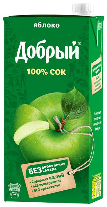 Сок Яблочный Добрый осветленный 1 л x 3 шт