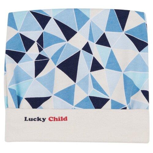 Шапка lucky child размер 38, синий/голубой