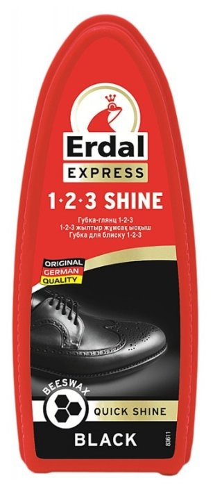 Erdal Губка-глянц 1-2-3 черный