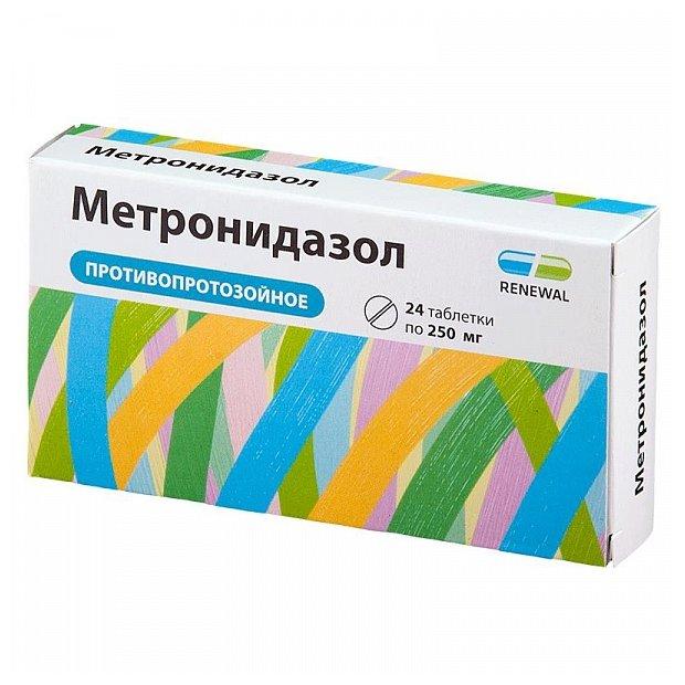 Метронидазол таб. 250 мг №24 Renewal