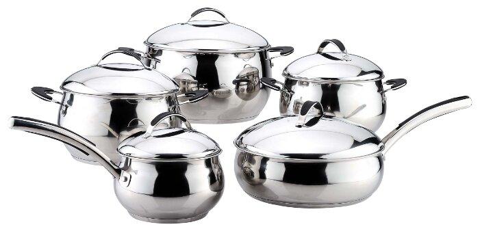 Набор посуды Bekker, цвет: серебристый, 10 предметов. BK-2705