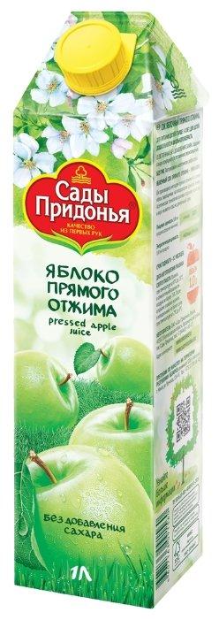 Сок Сады Придонья Яблоко прямого отжима, без сахара, 1 л