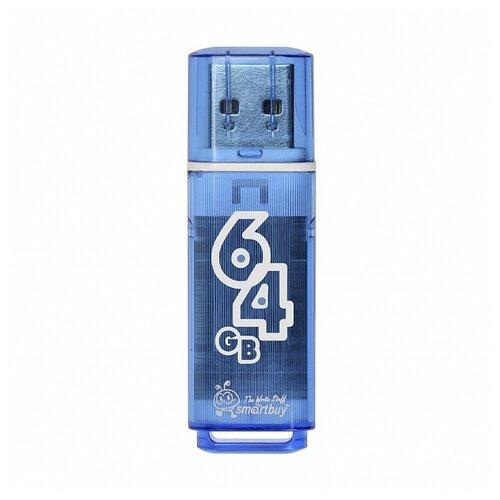 Фото - Флешка SmartBuy Glossy USB 2.0 64 GB, Нежно голубой флешка smartbuy glossy usb 2 0 32 gb изумрудный