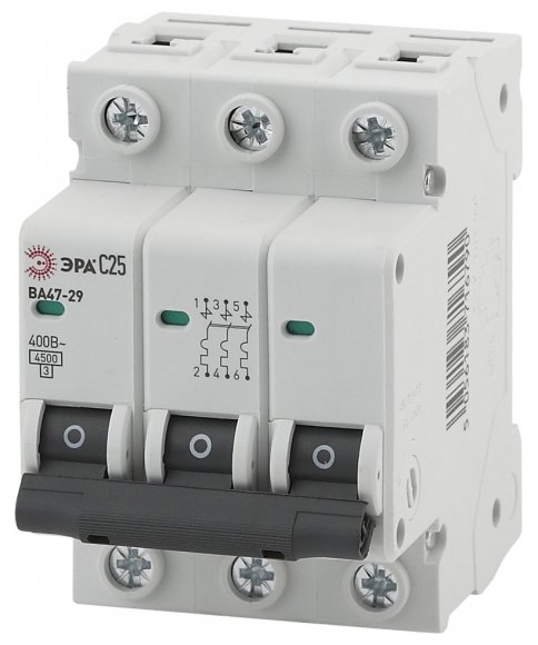 Автоматический выключатель ЭРА ВА 47-29 3P (С) 4,5kA