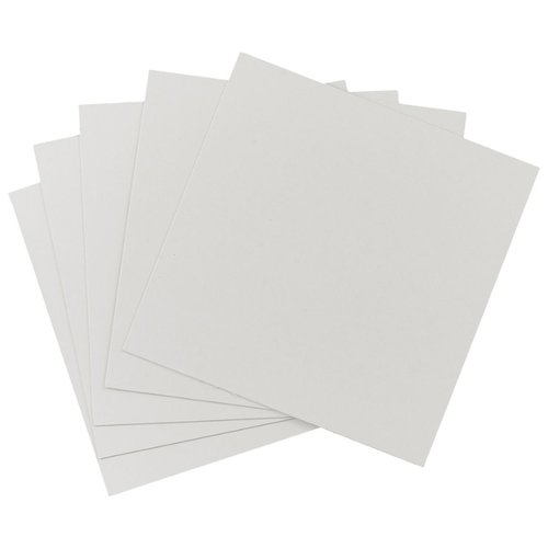 Белый картон крашенный в массе 1, 1 мм, 680 гр/м2 Decoriton, 30х30 см, 5 л.