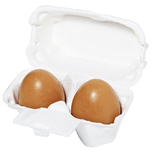 Фото - Holika Holika мыло-маска Egg Soap с красной глиной, 50 г, 2 шт. holika holika egg soap green tea мыло маска с зеленым чаем 50 г 2 холика холика