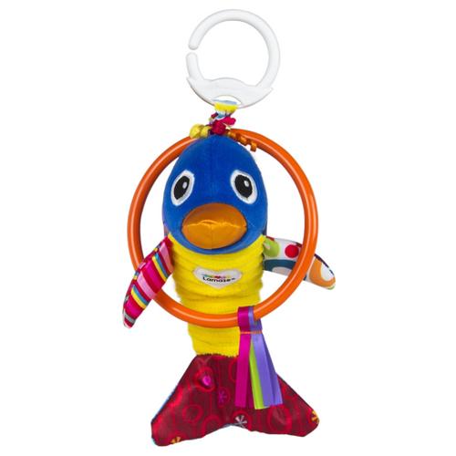 Купить Подвесная игрушка Lamaze Веселый дельфинчик (L27516) синий/желтый/розовый, Подвески
