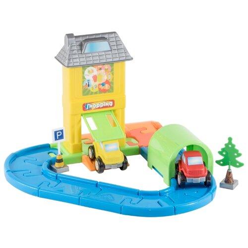 Купить Orion Toys Дорога голубой/оранжевый/серый/красный/зеленый, Детские парковки и гаражи