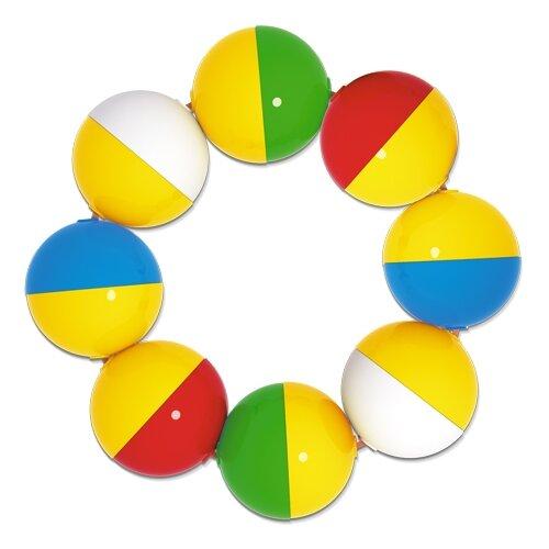 Погремушка Stellar Браслетик желто-красный/желто-синий/желто-зеленый