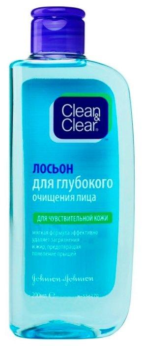Clean & Clear Лосьон для глубокого очищения лица, для чувствительной кожи 200 мл