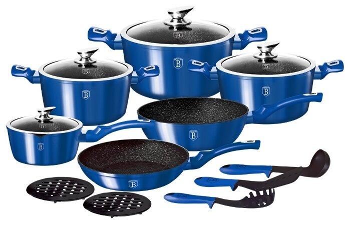 Набор посуды Berlinger Haus ВН-1659N Royal blue Metallic Line, 10 пр