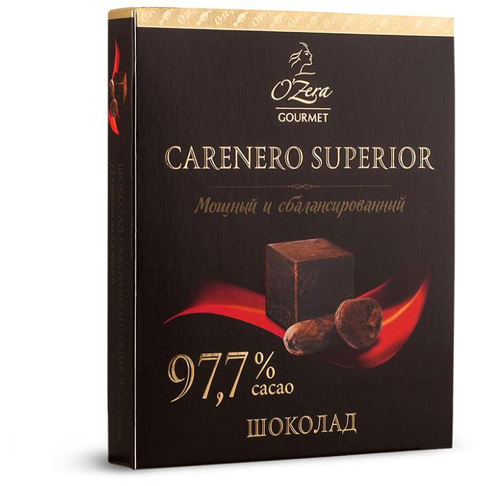 Шоколад Озерский сувенир горький порционный Carenero Superior 97.7% какао, 90 г