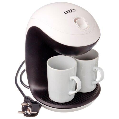 Кофеварка Leben 286-021 белый/черный