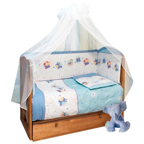 Sonia Kids комплект на медиуме Ласковое лето (7 предметов) голубойПостельное белье и комплекты<br>