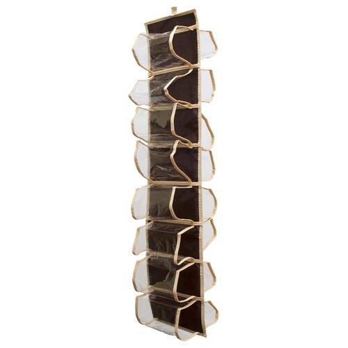 HOMSU Органайзер для колготок, шарфов и мелочей Costa-Rica бежевый/коричневый органайзер homsu costa rica для обуви цвет коричневый 51 х 25 х 12 см