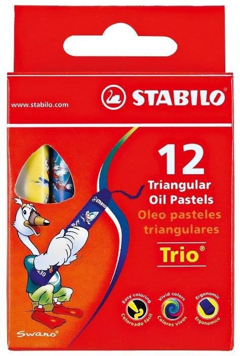 Пастель художественная STABILO Trio 12 цветов 2612