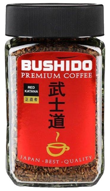 Bushido Кофе растворимый Red Katana, стеклянная банка