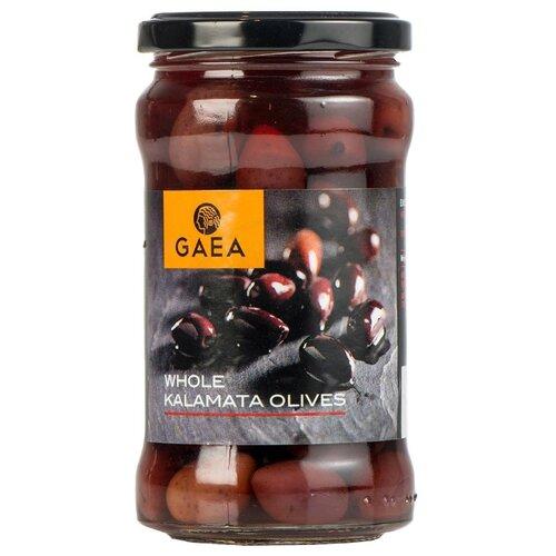 Gaea Оливки Каламата в маринаде с косточкой, стеклянная банка 300 гМаслины, оливки, каперсы консервированные<br>