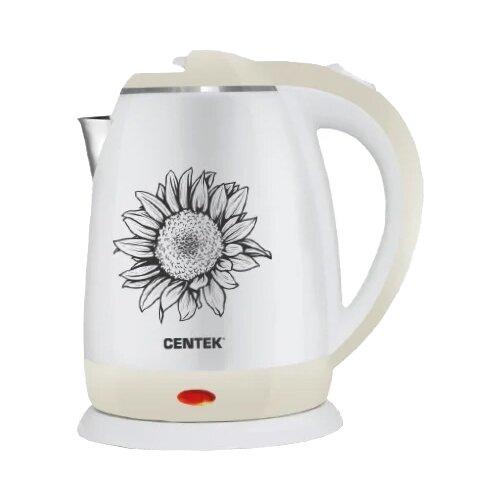 Чайник CENTEK CT-1026, бежевыйЭлектрочайники и термопоты<br>
