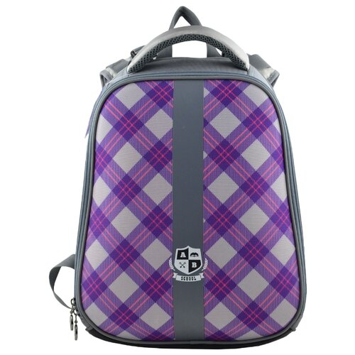 BG Рюкзак Junior School SBJ 2757 серый/фиолетовыйРюкзаки, ранцы<br>