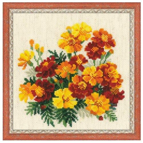Купить Риолис Набор для вышивания крестом Бархатцы 20 x 20 (1556), Наборы для вышивания
