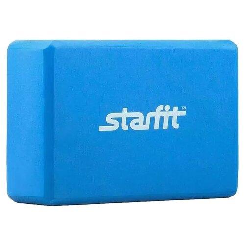 Блок для йоги Starfit FA-101 синий ролик для йоги и пилатеса starfit fa 506 цвет зеленый 15 х 15 х 90 см