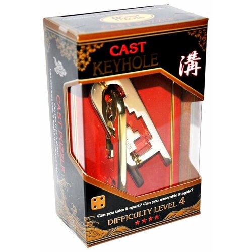 Головоломка Cast Puzzle Keyhole, уровень сложности 4 (HZ 4-11) серый/желтый головоломка cast puzzle mobius 55208 желтый