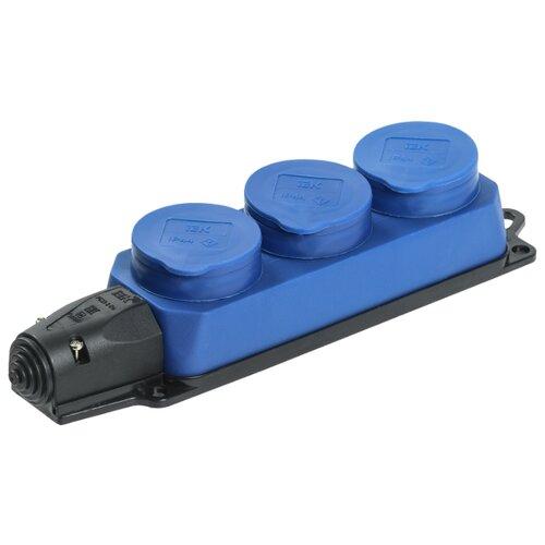 Колодка IEK Омега РБ33-1-0м 16 А синий