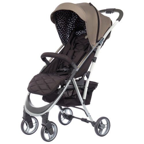 Фото - Прогулочная коляска Happy Baby Eleganza V2 sand, цвет шасси: серебристый happy baby ходунки happy baby smiley v2 brown